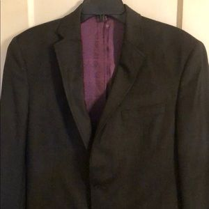 TED BAKER LONDON ENDURANCE BLACK WOOL BLAZER